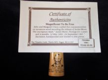 SYCAMORE WOOD THIMBLE JOHN URWIN + CERTIFICATE RELEASE OF JACKIE MANN LTD ED